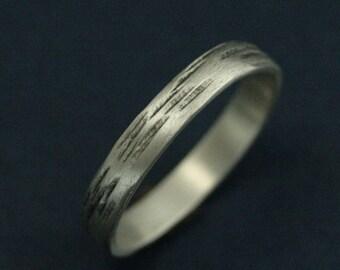 3mm Aspen Ring~Silver Wedding Band~Silver Bark Band~Aspen Band~Rustic Wedding Ring~Rustic Wedding Band~Silver Wedding Ring~.925 Silver Band