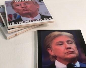 Donald Trump Meme Coaster Tile Set