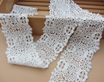 Antique lace trim, white cotton lace ,Cotton lace Trim solubility lace Lace Trim Floral Lace,Chemical Lace