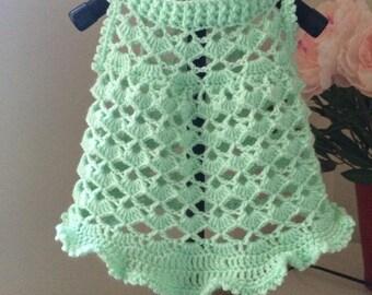 Crochet dog sweet dress