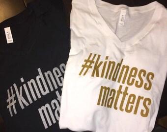 Glitter Kindness Matters Tee Shirt