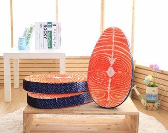 Salmon Fillet Decorative Cushion Pad