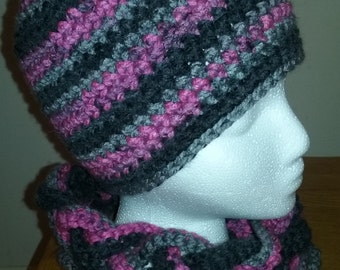 Hat / braided cowl set