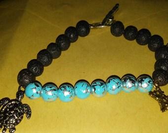 Sea turtle and seastar bracelet.