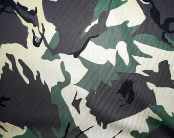 SALE - Fabric - Camouflage fine cotton lawn - dressmaking fabric