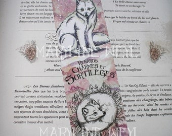 "Bookmark ""foxes, charms and spells"" polar Fox"