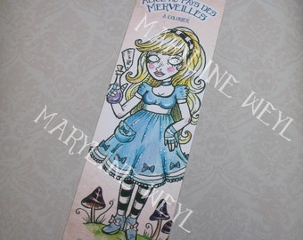 "Bookmark ""Alice in the Wonderland"""