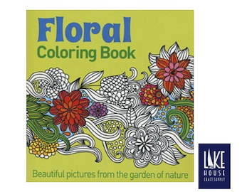 floral coloring book adult coloring books teen coloring book gardeners delight coloring book