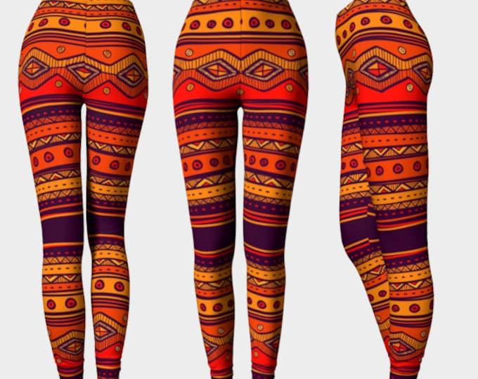Safari Print Leggings Yoga Pants