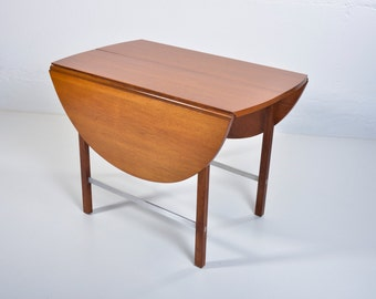 REDUCED Mid Century Modern Paul McCobb Irwin for Calvin Group Oval Walnut Dining Table Extension Table Drop Leaves Herman Miller Eames Era