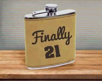 Flask/Birthday/21/21stBirthday/Alcohol/LegalDrink/Finally21