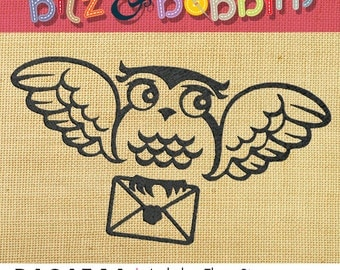 Harry Potter- Hedwig and Letter - Machine Embroidery Design