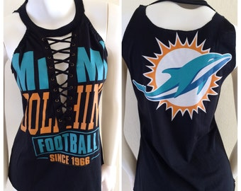 Miami Dolphins Shoelace Top