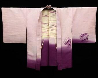Japanese Kimono / Vintage Silk Kimono Haori  Jacket / Kimono Cardigan / 051602
