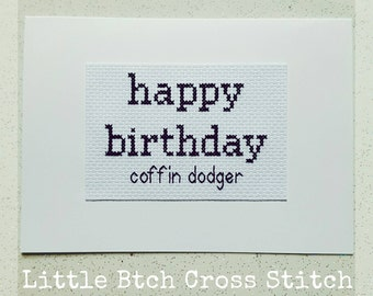 items similar to mature braille sweary birthday card, happy, Birthday card