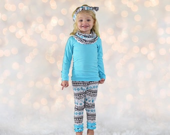 Toddler Girl Outfit - Fair Isle - Girl Outfit - Christmas
