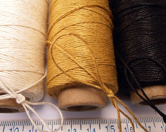 600 Yd 4 Ply Linen Finely Polished Thread - Cord  -  .5mm thick