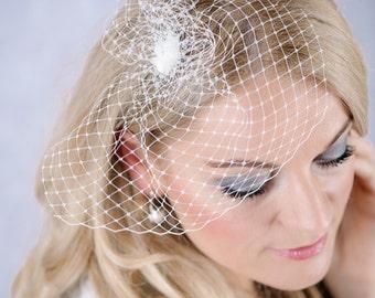 Birdcage bridal veils wedding flower veil hair accessories flower Fascinators B32