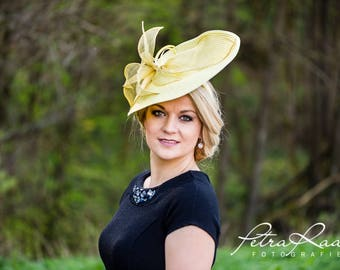 Hat Royal Ascot has ball Hat Kentucky-Derby horse racing has couture millinery Sinamay wedding Fascinator U9