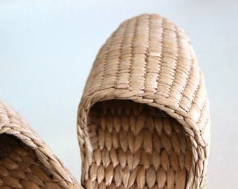 Woven Naturalist Slippers