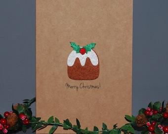 Figgy Pudding Christmas Card - Custom Christmas Cards - Merry Christmas - Holiday Cards - Country Christmas Cards - Holiday Greeting Cards