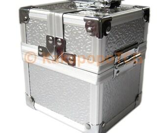 Km-S02 Silver Lockable Metal Deck Box or Dice Box for TCG Mtg Yugioh Pokemon Toploaders Magic the gathering Card Vanguard EDH Commander