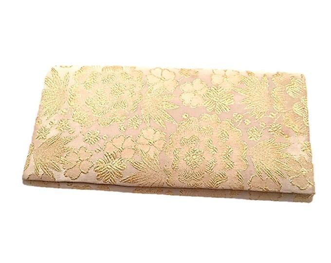 Vintage Embroidered Handbag Clutch   1950s Elegant Gold Clutch   Estate Find   Bridal Purse   Made in Spain