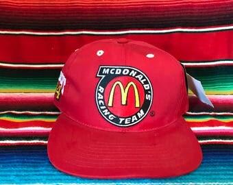 VTG Deadstock McDonald's Racing Team Elliot #94 Checkered Flag Snapback hat