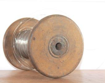 BIG Wooden Spool, Wooden Bobin, Thread Spool Holder, Wooden Home Decor, Industrial Decor, Industrial Office Decor, Metal Wire, Jewelry Wire
