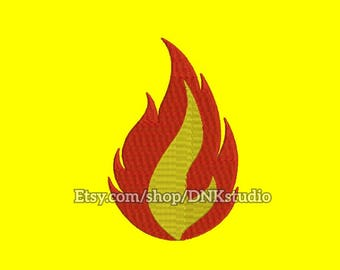 Fire Flame Embroidery Design - 6 Sizes - INSTANT DOWNLOAD