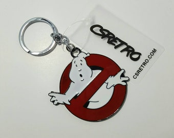 Retro Ghostbusters Movie Keychain zipper pull