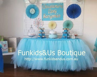 18 ft long Table Tutu Skirt MADE TO ORDER - Table tutu Birthday Party Wedding Bridal Shower Baby