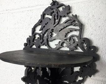 Antique Handmade Wooden Victorian cutout shelf Knick Knack Home Decor