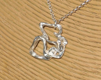 Free Form Sterling Silver Pendant