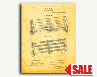 Patent Art - Portable Fence Patent Wall Art Print