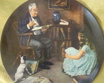The Storyteller collector plate #W10411 and  eighth in the Rockwell  Heritage Collection series  by Norman Rockwell.