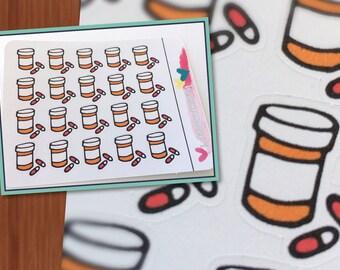 Medication bottle Planner Stickers - Prescription pills - Erin Condren, Happy Planner, Filofax, and more!