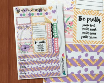 Lavender Mini Kit - Weekly Mini Happy Planner stickers kit - Stickers for the Mini Happy Planner, Filofax, and more!