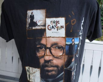 Size XL (48) ** 1992 Eric Clapton Concert Shirt (Double Sided)