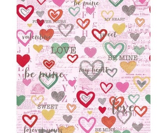 Vintage Valentine by Clothworks - Pink Y2027-42 - off the bolt