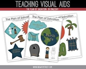 Plan of Salvation Missionary Teaching Aids in English and Spanish
