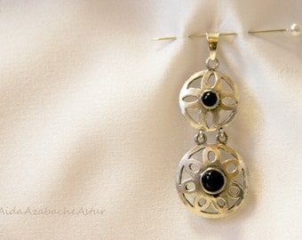 Pendant in 925 Silver and Jet Black de Asturias.