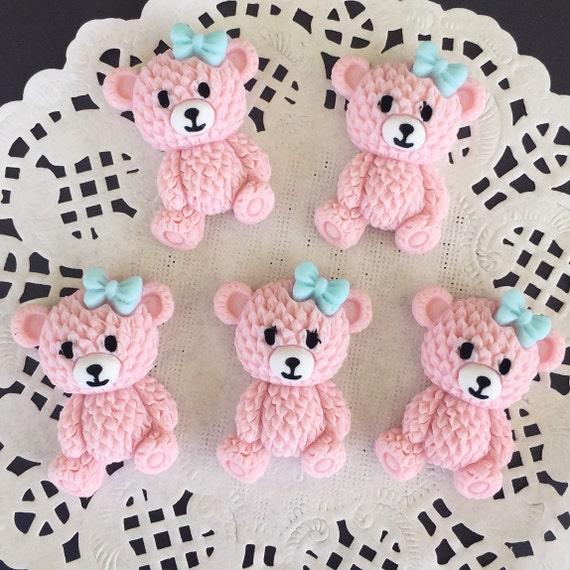 2pcs.23x33mm.Miniature Bear Cabochon,Miniature Bear,Dollhouse bear,Cabochon Resin,Miniature Animal