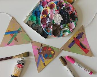 Art Banner | Garland for decor and Art Teachers/Classrooms