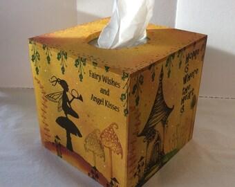 Magical fairy Mdf tissue box cover