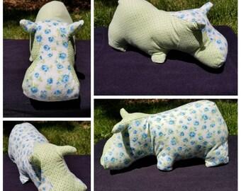 Stuffed Hippo Stuffed Animal - Travel Hippo Pillow