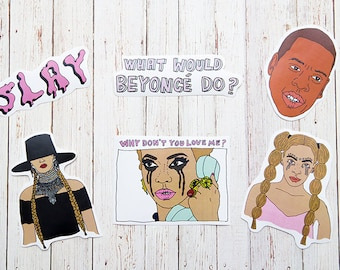 Beyonce Sticker Pack / Queen B Stickers /  Gift  Funny / Fan Art /  Celebrity Stickers