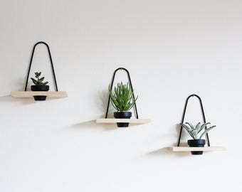 Modern Hanging Wall Planter Maple