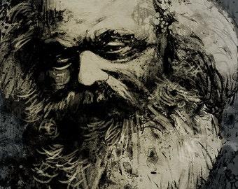 Karl Marx A4 art print Socialism Communism