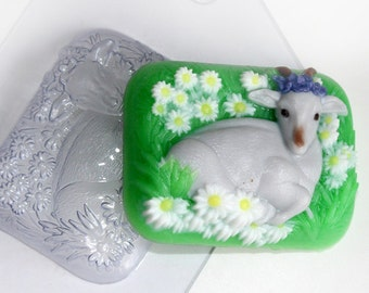 Goat on a meadow mold, Goat milk mold, Goat's milk mold, Goat milk soap, summer mold, goat mold, plastic mold, soap mold, chocolate mold